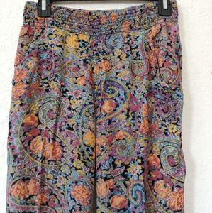 Billabong Paisley print,  wide leg pants size Sm